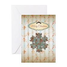 Vintage Snowflake Greeting Card