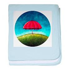 Red Umbrella baby blanket