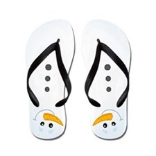 Cool Snowman Winter Flip Flops