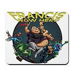 Francis - Wow Hero (Round Background) Mousepad