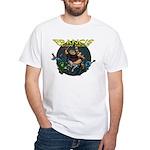 Francis - Wow Hero (Round Background) White T-Shir
