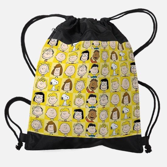 Peanuts Back to School Pattern Drawstring Bag