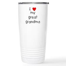 Cute Great grandma Travel Mug