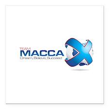 "Team MaccaX Square Car Magnet 3"" x 3"""