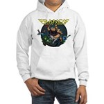 Francis - Wow Hero (Round Background) Hooded Sweat