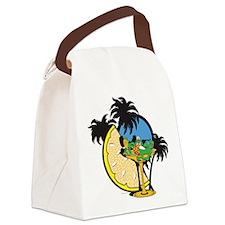 Gecko Charlie Cartoon Canvas Lunch Bag