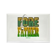 Fore Father Dad Golfer Rectangle Magnet