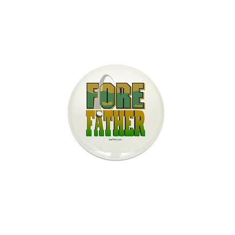 Fore Father Dad Golfer Mini Button