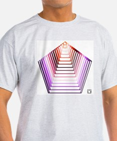 Concentric colored pentagons T-Shirt
