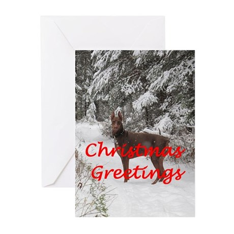 Doberman Christmas Cards (Pk of 20)