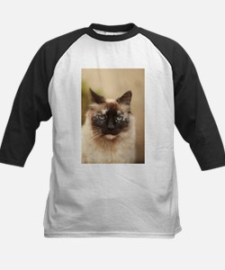 Colorpoint cat up close Baseball Jersey