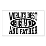 Best Husband and Father Sticker (Rectangle)