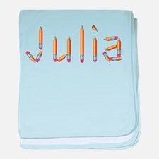 Julia Pencils baby blanket