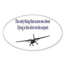 Drive to airport Rectangle Decal