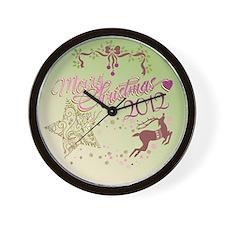 star reindeer Wall Clock