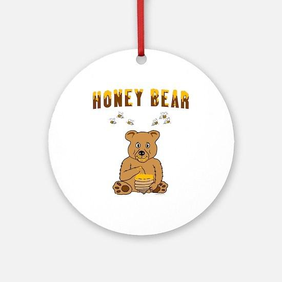 Honey Bear Ornament (Round)