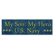 My Son My Hero U.S. Navy Bumper Sticker