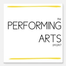 Performing Arts Project Logo Square Car Magnet 3""