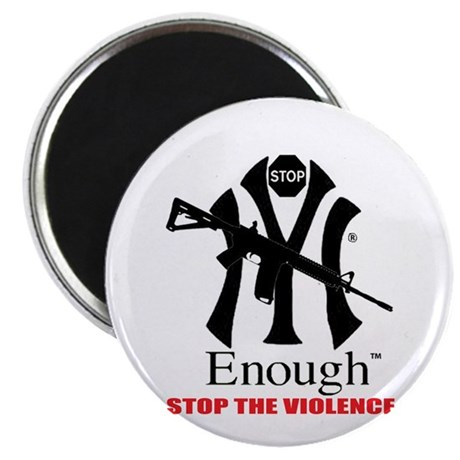 """STOP THE VIOLENCE 2.25"""" Magnet (10 pack)"""