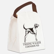 Treeing Walker Coonhound white Canvas Lunch Bag