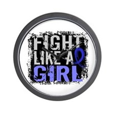Licensed Fight Like a Girl 31.8 Colon C Wall Clock