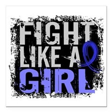 Fight Like a Girl 31.8 Colon Cancer Square Car Mag