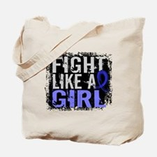Licensed Fight Like a Girl 31.8 Colon Can Tote Bag