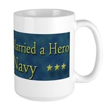 My Daugther Married A Hero Navy Mug