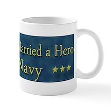 My Daugther Married A Hero Navy Mug