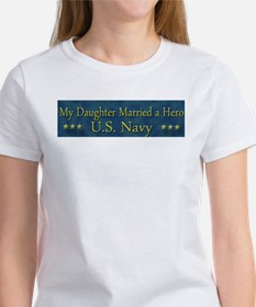 My Daugther Married A Hero Navy Tee