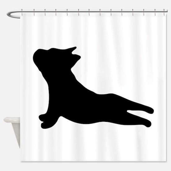 French Bulldog Yoga Shower Curtain