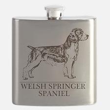 Welsh Springer white Flask