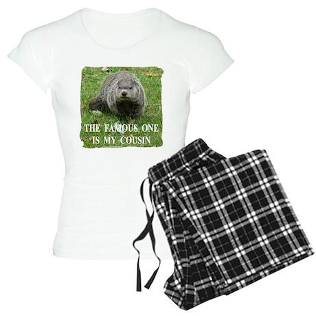 Cousin of Famous Groundhog Women's Light Pajamas
