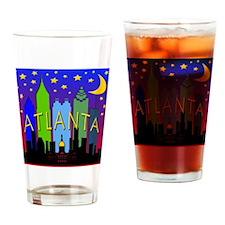 Atlanta Skyline nightlife Drinking Glass