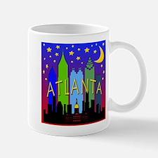Atlanta Skyline nightlife Mug