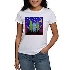 Atlanta Skyline nightlife Tee