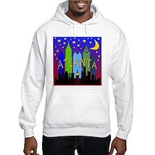 Atlanta Skyline nightlife Hoodie