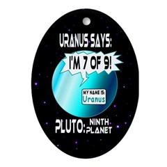 Message from Uranus Oval Ornament