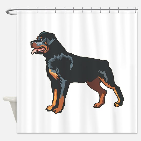 rotti,png.png Shower Curtain