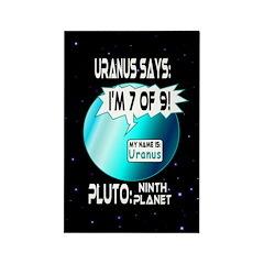 Message from Uranus Rectangle Magnet
