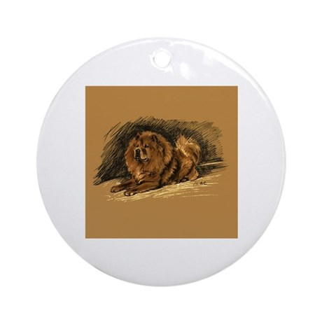 Chow Chow Pastel Sketch Ornament (Round)