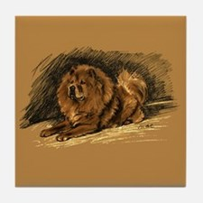 Chow Chow Pastel Sketch Tile Coaster