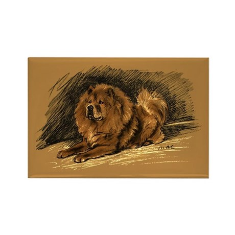 Chow Chow Pastel Sketch Rectangle Magnet