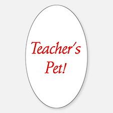 Teacher's Pet! Oval Stickers