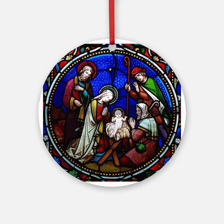 Baptism Ornament Round Glass: 1000s Of Religious Ornament Designs