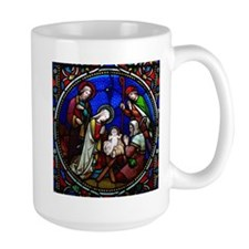 Nativity in stained glass Mug