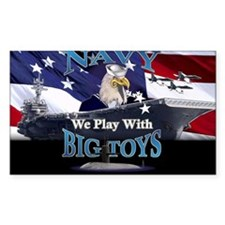 US NAVY BIG TOYS Oval Decal