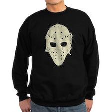 Vintage Hockey Goalie Mask (dark) Sweatshirt