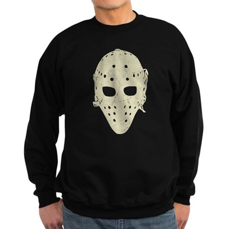 Vintage Hockey Goalie Mask (dark) Sweatshirt (dark