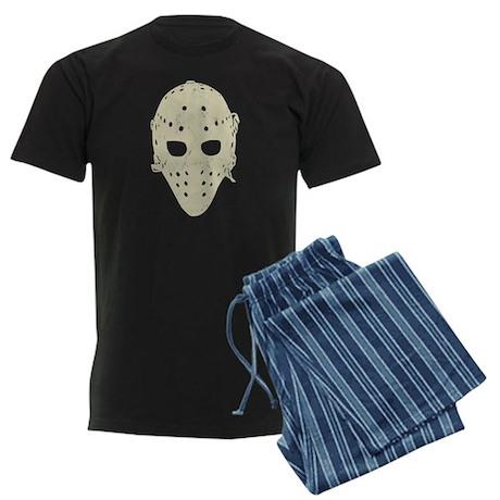 Vintage Hockey Goalie Mask (dark) Men's Dark Pajam